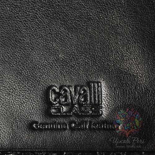 Портмоне женское Cavalli Class Keira кожаное черное, фото