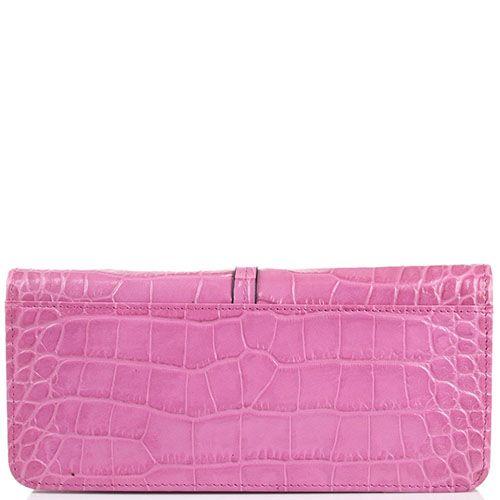 Портмоне женское Cavalli Class Daphne из тисненой кожи розового цвета на молнии, фото