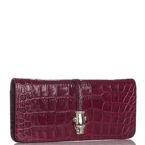 Красный кошелек Cavalli Class с декором-пантерой, фото