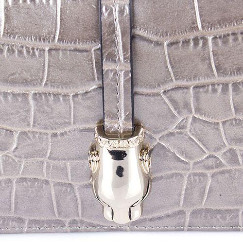 Портмоне женское Cavalli Class Daphne кожаное бронзового оттенка на молнии, фото