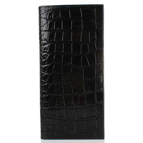 Травел-кейс Cavalli Class Alexander черного цвета лаковый с тиснением под кожу крокодила, фото
