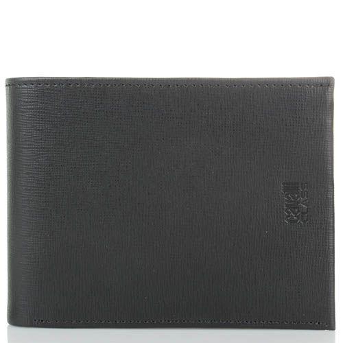 Портмоне мужское Cavalli Class Astoria черного цвета с сафьяновой отделкой кожи, фото