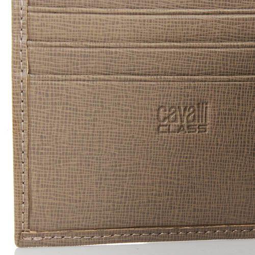 Портмоне Cavalli Class Astoria квадратное бежевого цвета с сафьяновой отделкой, фото