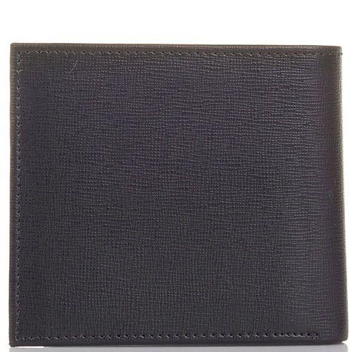 Портмоне Cavalli Class Astoria квадратное темно-коричневого цвета с сафьяновой отделкой, фото