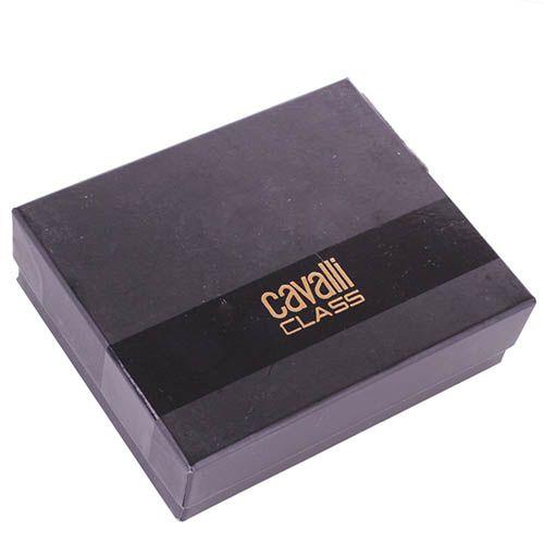 Кардхолдер Cavalli Class Astoria темно-коричневого цвета с сафьяновой отделкой кожи, фото