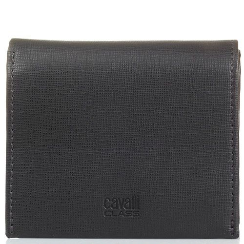 Мини портмоне Cavalli Class Astoria темно-коричневого цвета с сафьяновой отделкой кожи, фото