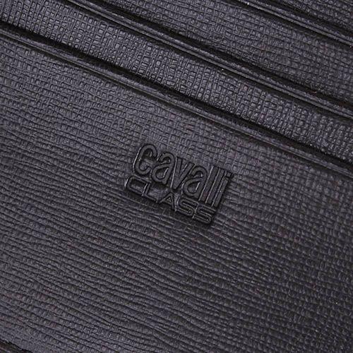 Травел-кейс Cavalli Class Astoria черного цвета с сафьяновой отделкой кожи, фото