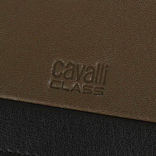 Портмоне Cavalli Class Hoxton цвета хаки с черной вставкой, фото