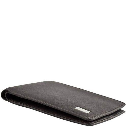 Вместительное горизонтальное портмоне Tony Perotti Contatto коричневого цвета, фото