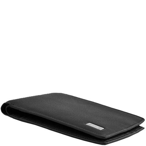 Классический кошелек Tony Perotti Contatto черного цвета из кожи, фото
