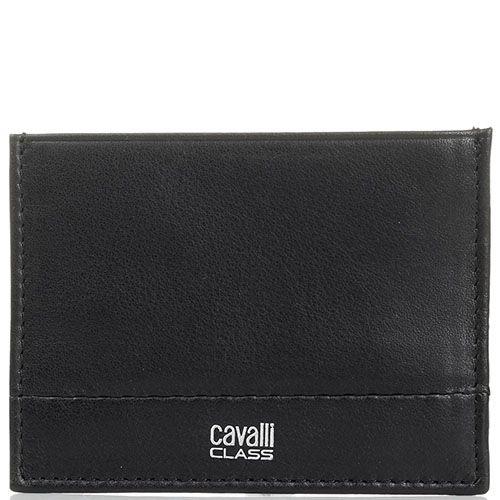 Кардхолдер Cavalli Class из мягкой кожи черного цвета, фото