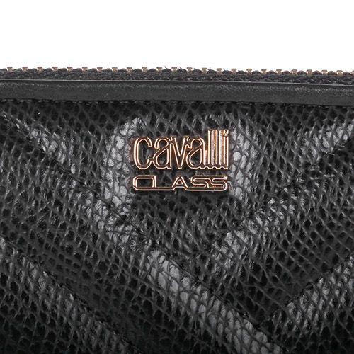 Кейс для путешествий Cavalli Class Idol стеганый черного цвета, фото