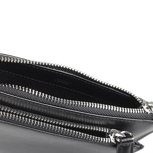 Черное портмоне Cavalli Class Neon Nappa из гладкой кожи, фото