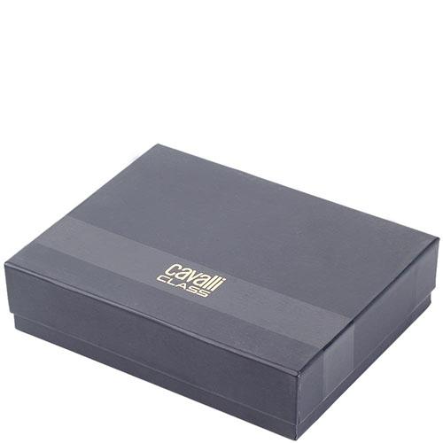 Женское портмоне Cavalli Class черного цвета с декором из мелких заклепок, фото