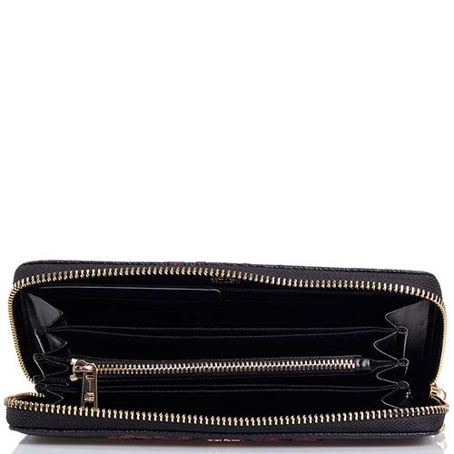 Кошелек из фактурной кожи Cavalli Class Velvet черного цвета, фото