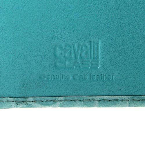 Портмоне женское Cavalli Class Keira кожаное лаковое нежно-бирюзового цвета, фото