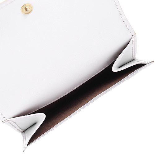 Портмоне женское Cavalli Class Keira кожаное белое маленькое, фото