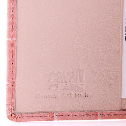 Портмоне женское Cavalli Class Keira кожаное розовое маленькое, фото