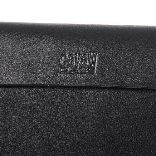 Портмоне Cavalli Class кожаное черное вертикальное, фото