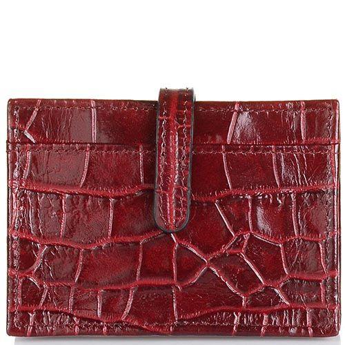 Кардхолдер Cavalli Class Daphne кожаный бордовый, фото