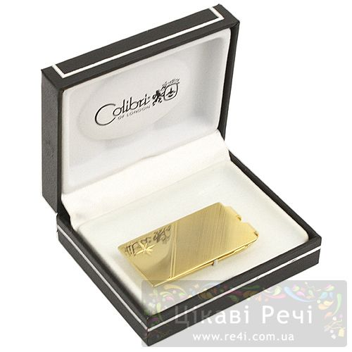 Зажим для денег Diamond в золоте с бриллиантиком, фото