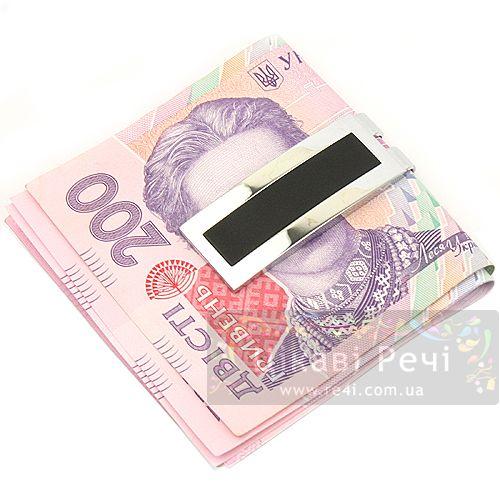 Зажим для денег Relic из полированной стали с черным лаком, фото