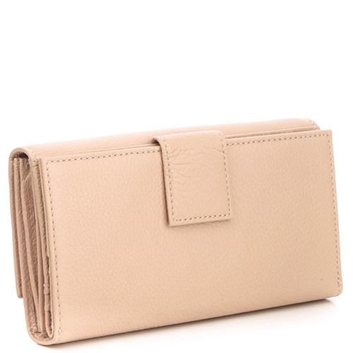 Бежевый складной кошелек Coccinelle со слотами для кредитных карт, фото
