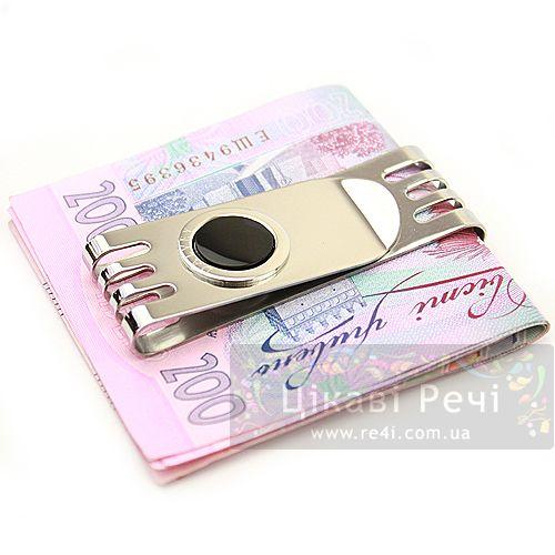 Зажим для денег Dalvey Sovereign двойной с ониксом, фото