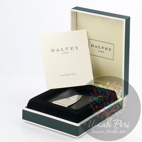 Черный футляр Dalvey для кредитных карт с красной отделкой и зажимом для денег , фото