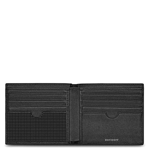 Черное портмоне Davidoff Clous de Paris с тиснением, фото