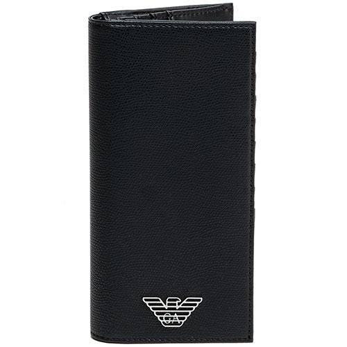 Вертикальное портмоне Emporio Armani с тиснением, фото