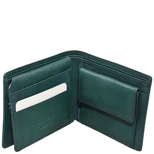 Стильный зеленый кошелек Giudi Leather из натуральной кожи на застежке, фото