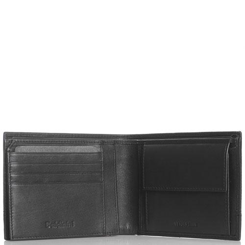 Черное портмоне Baldinini Luke с тиснением, фото