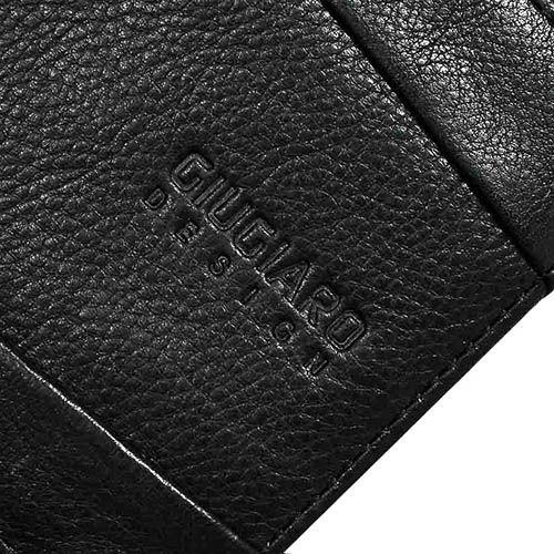 Горизонтальное черное портмоне Tony Perotti Giugiaro из натуральной зернистой кожи, фото