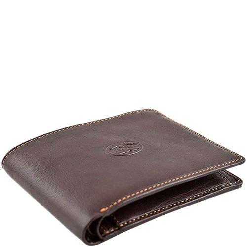 Коричневое портмоне Tony Perotti Italico из кожи с наружным карманом, фото