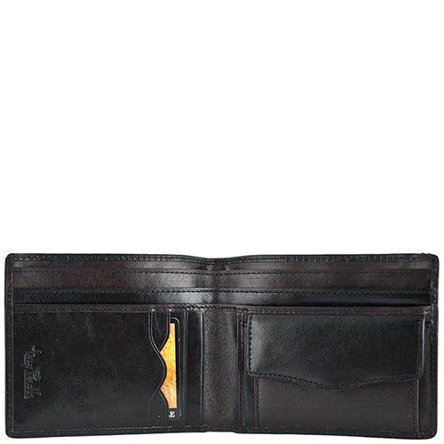 Черный классический кошелек Tony Perotti Italico с наружным карманом, фото