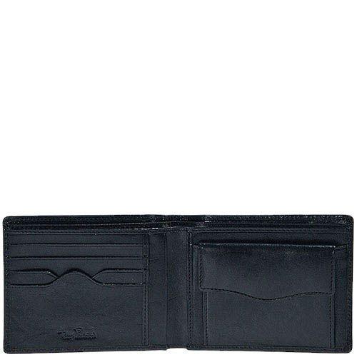 Черное портмоне Tony Perotti Italico из гладкой кожи с тиснением, фото