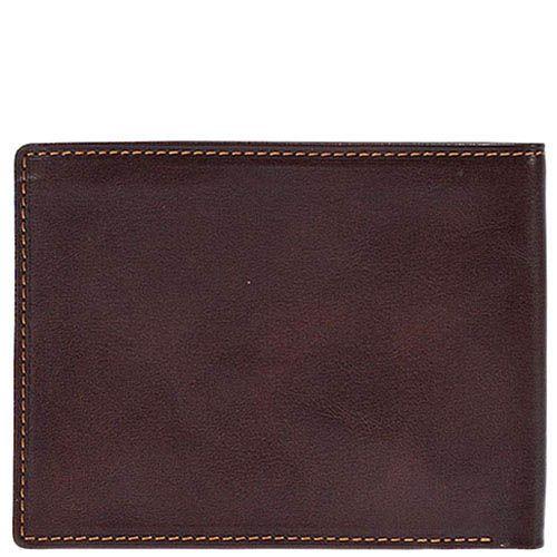 Горизонтальное коричневое портмоне Tony Perotti Italico из гладкой кожи с тиснением, фото