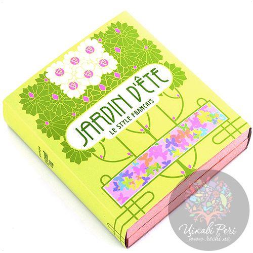 Визитница Jardin Dete Летний сад серебристая Цветы в вазе для своих визиток, фото