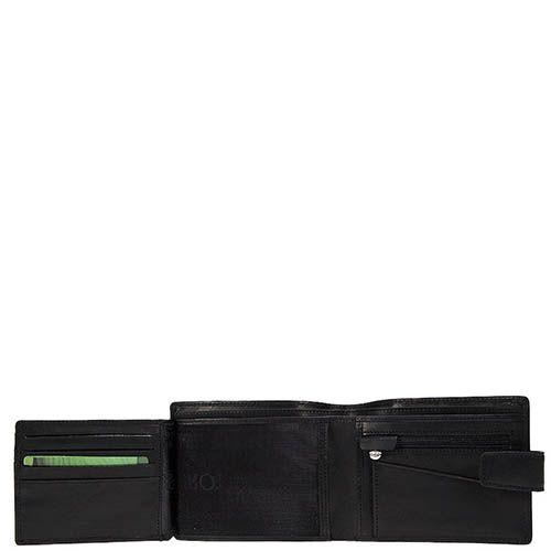 Черное портмоне Tony Perotti Just из гладкой кожи на застежке, фото