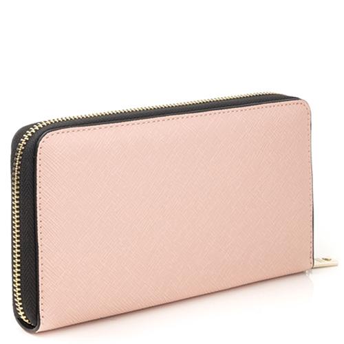 Светло-розовый кошелек Love Moschino с тиснением сафьяно, фото