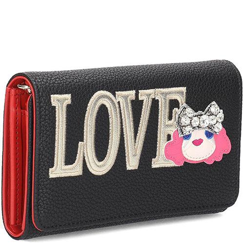 Кошелек на цепочке Love Moschino с вышивкой, фото