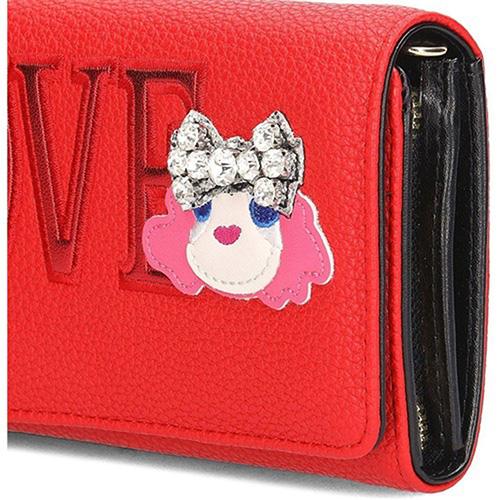 Красный кошелек Love Moschino со съемной цепочкой, фото