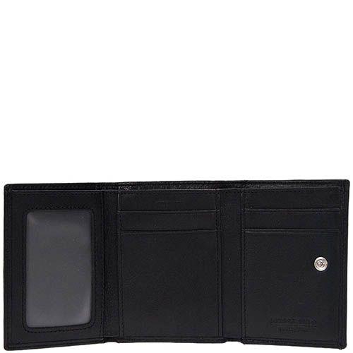 Стильное горизонтальное портмоне Miguel Bellido Classic из черной кожи на застежке, фото
