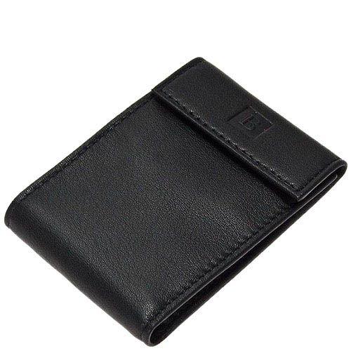 Небольшое портмоне Miguel Bellido Classic из черной кожи на кнопке, фото