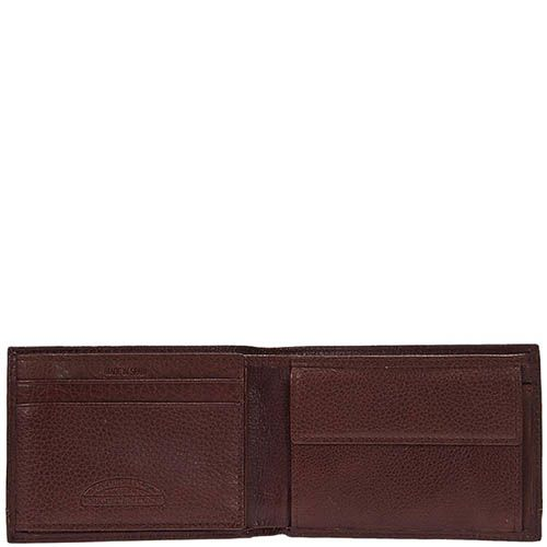 Горизонтальное коричневое портмоне Miguel Bellido Nature из зернистой кожи, фото
