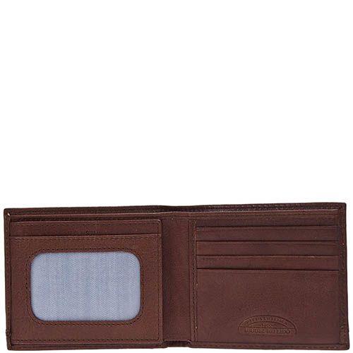 Небольшое горизонтальное портмоне Miguel Bellido Nature из коричневой кожи с тиснением, фото