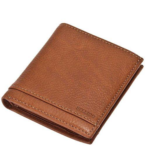 Мужское портмоне Miguel Bellido из натуральной коричневой кожи в фирменной упаковке, фото
