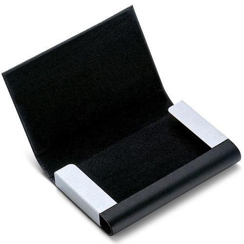 Визитница Philippi Flip черная горизонтальная для своих визиток, фото