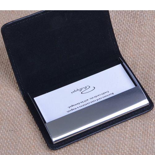 Визитница Philippi Gianni черная горизонтальная для своих визиток, фото